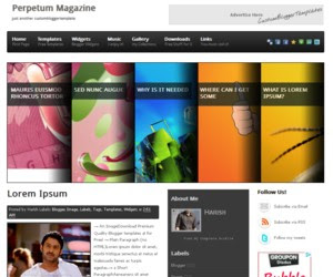Perpetum Magazine Blogger Template