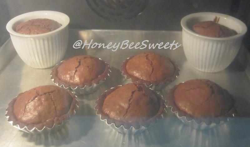 Honey Bee Sweets: Warm Chocolate Soufflé Tarts