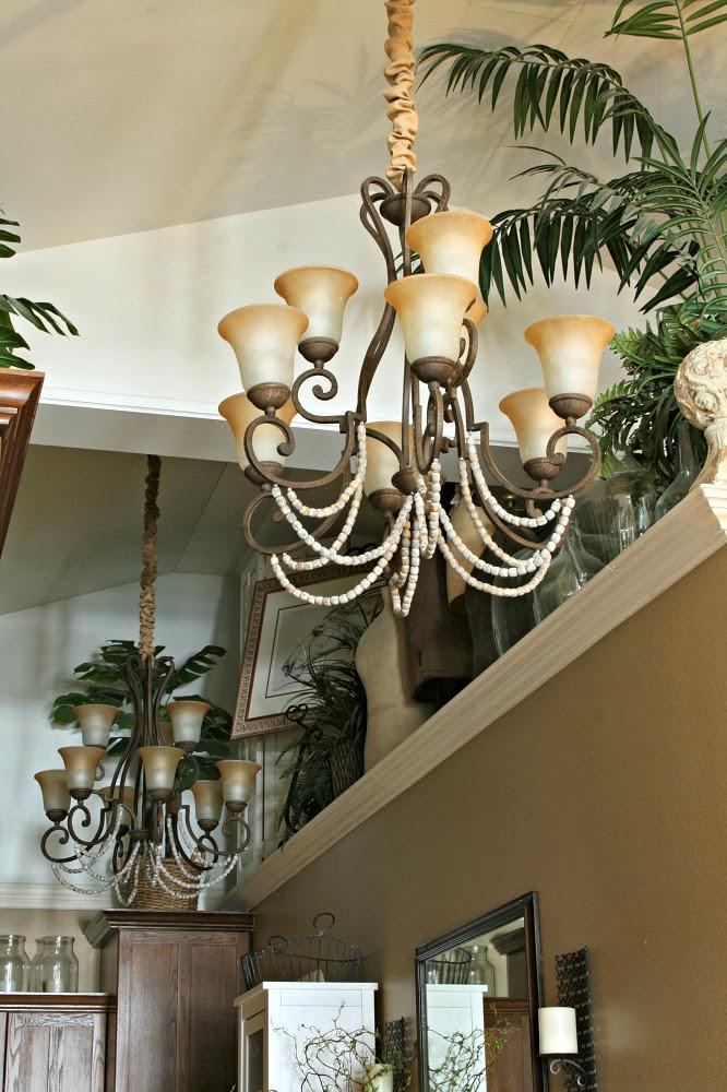 Overstock grecian chandelier, annie sloan, old white, french linen, graphite