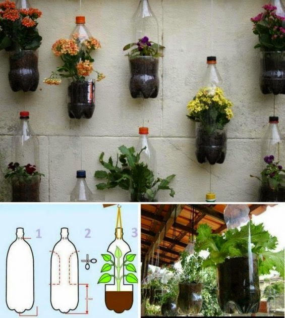 Ingenio triana como construir maceteros con botellas - Maceteros de pared ...