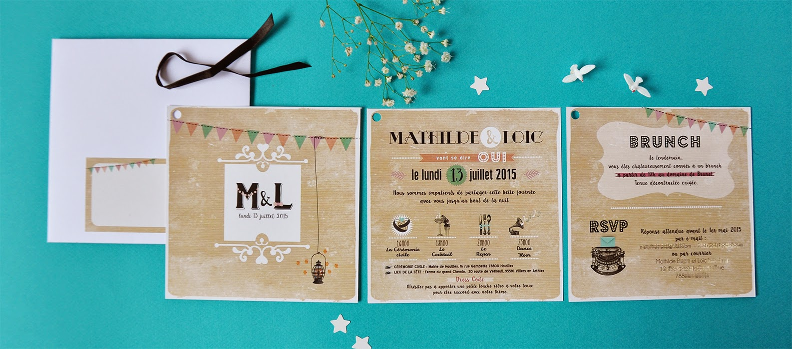 Turbo Faire part mariage vintage colore – Blog photo de mariage en 2017! TW67
