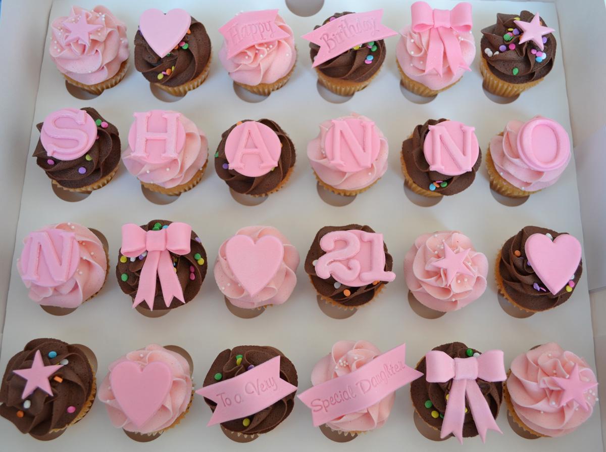 Little Paper Cakes 24 Mini Happy Birthday Cupcakes