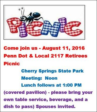 8-11 Penn Dot & Retirees Picnic