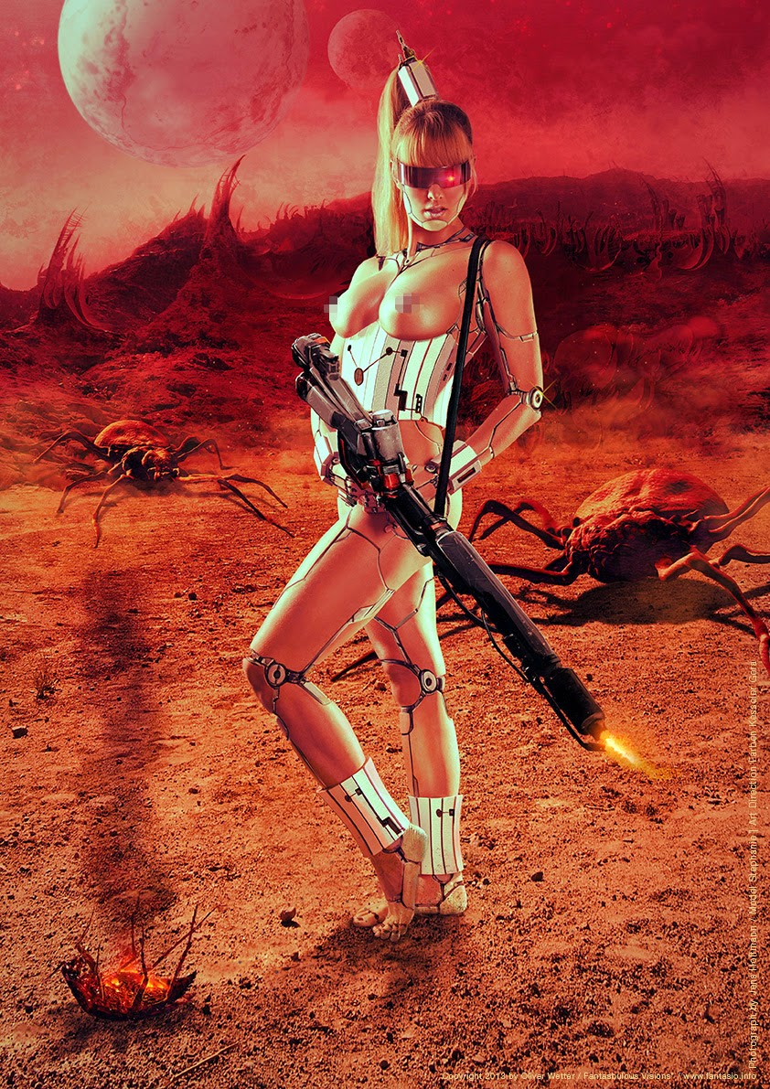 Mars attacks and android legacy reference / inspired pinup