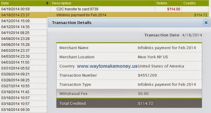 Infolinks,Payment Proof,Payonner.com,2014