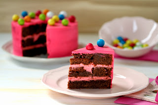 Layer cake de xocolata i xiclet