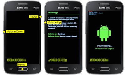 Download mode Samsung Galaxy V Plus