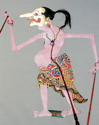 Traditional Performance javanese puppet - Petruk pictures