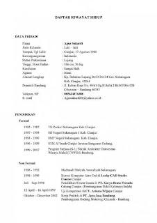 Contoh Daftar Riwayat Hidup Calon Polri