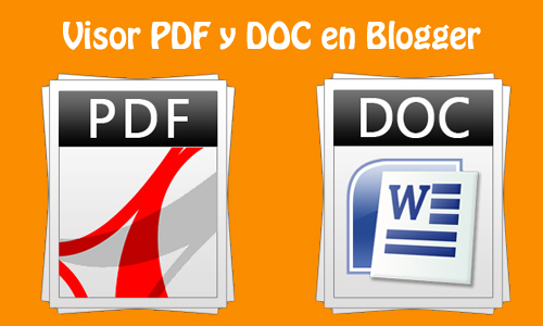 Insertar documentos PDF o DOC en Blogger