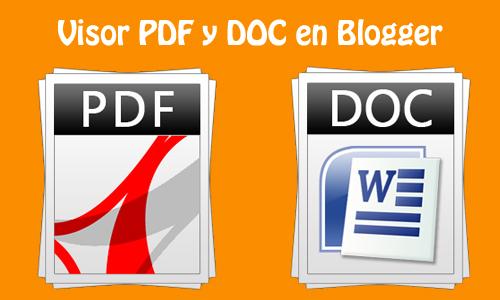 Insertar documentos PDF o DOC en Blogger