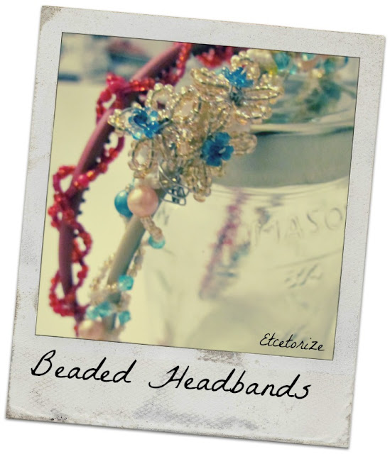 DIY Beaded Headband, Make your own headband, DIY Hair accessories