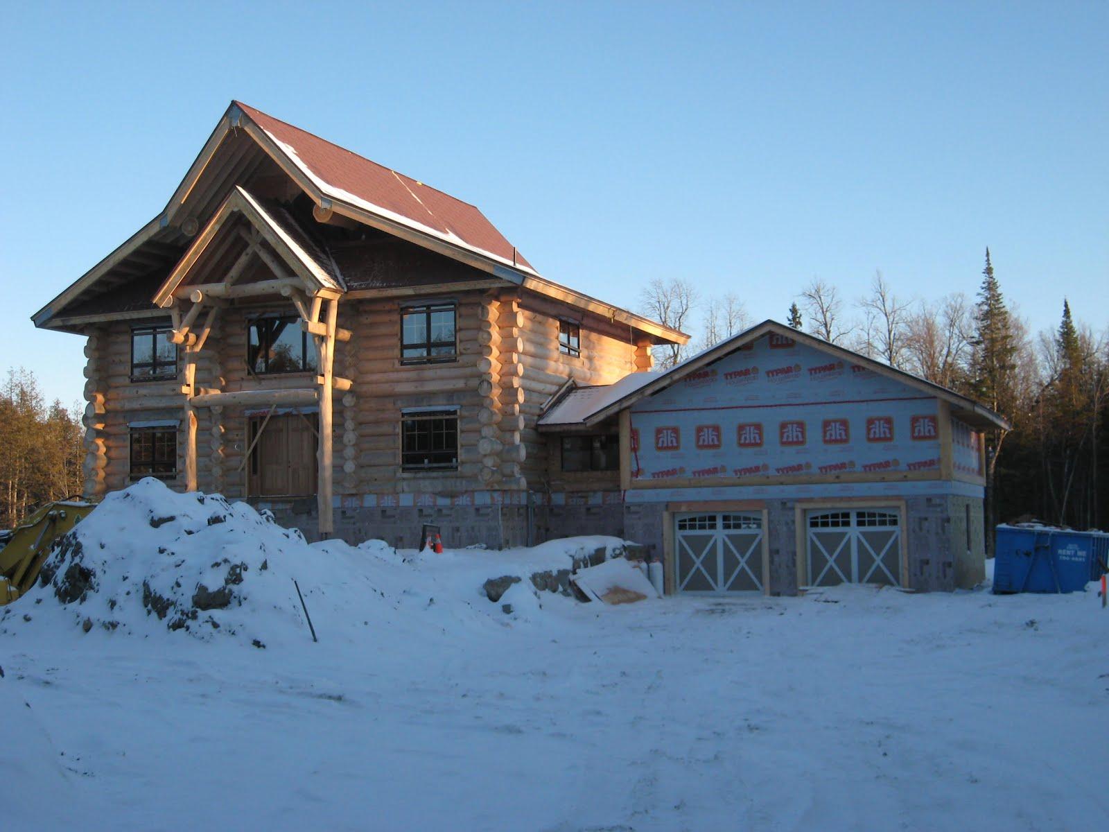 Dextor a edwards architect juneau log home carp ontario for Log home architects