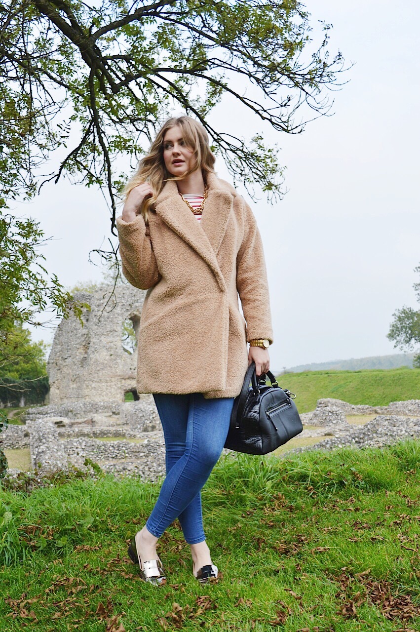 How to style a teddy bear coat, FashionFake, fashion bloggers, bargain winter coat