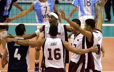 Voleibol venezolano derrotó a Argentina 3-1 en Beijing 2008