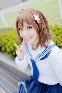 Chamaro Cosplay as Ohana Matsumae from Hanasaku Iroha