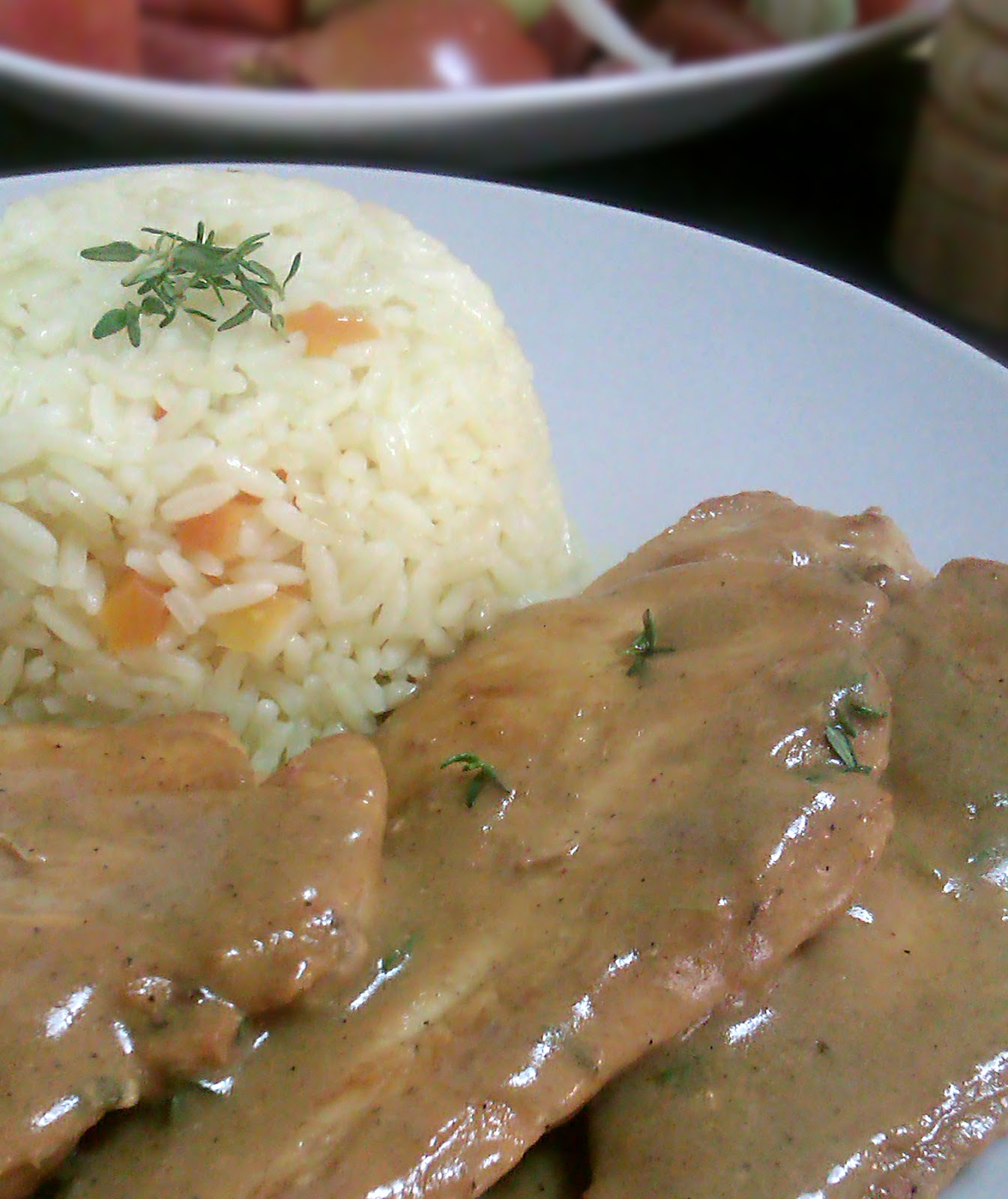 Chicken Fillet with Mustard Sauce & Thyme
