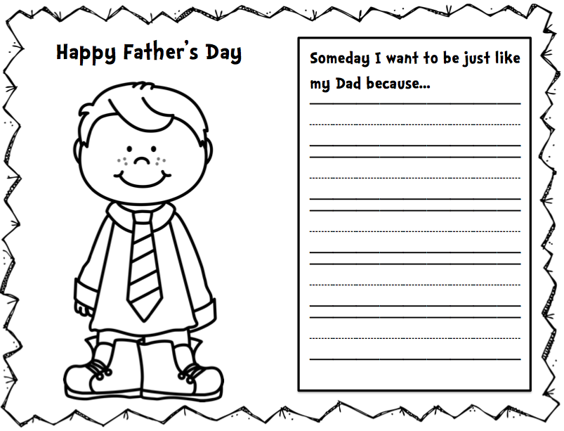 It is a photo of Witty Free Father's Day Card Templates