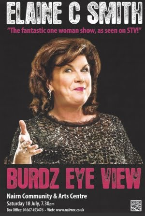 Elaine C Smith at Nairn Community Centre Sat 18th July