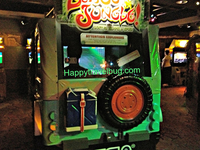 A video game inside a jeep at Disney Quest in Downtown Disney