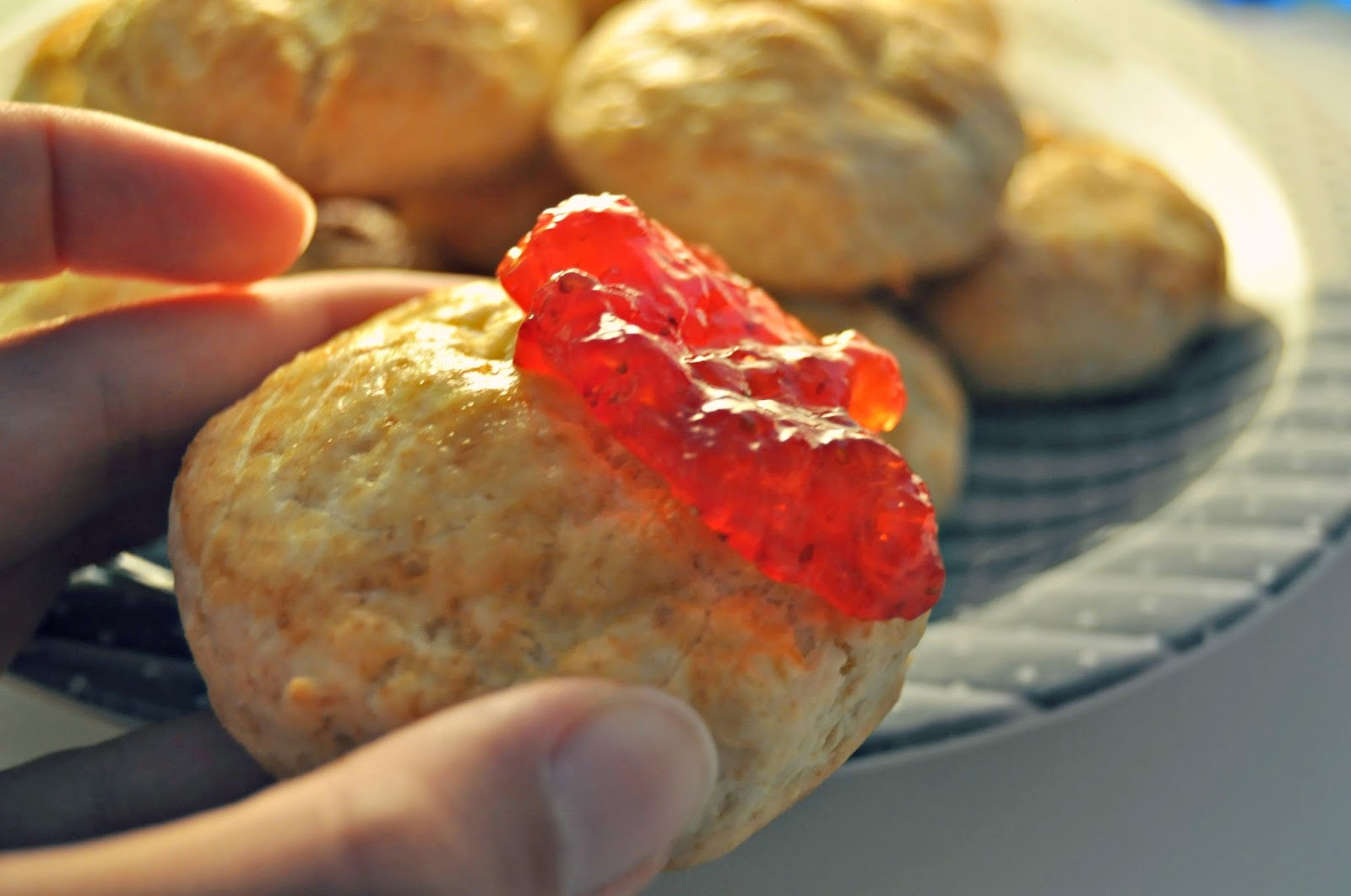 home-baked scones