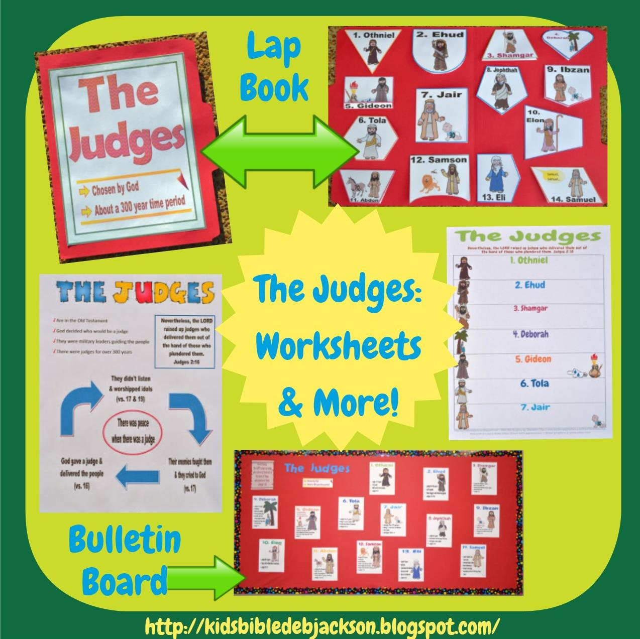 http://kidsbibledebjackson.blogspot.com/2013/11/the-judges.html
