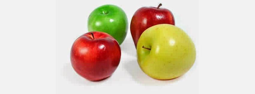 Belle photo de couverture facebook pomme