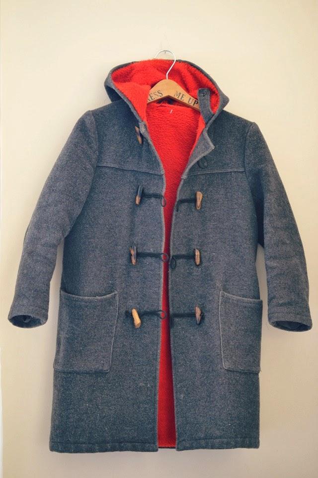 vintage toggle coat