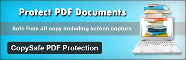 Embed copy protection PDF files in blog post