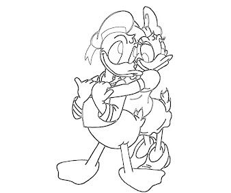 #6 Donald Duck Coloring Page