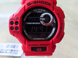 CASIO G-SHOCK GDF100-4 TWIN SENSOR ALT-THERMO - RED  To