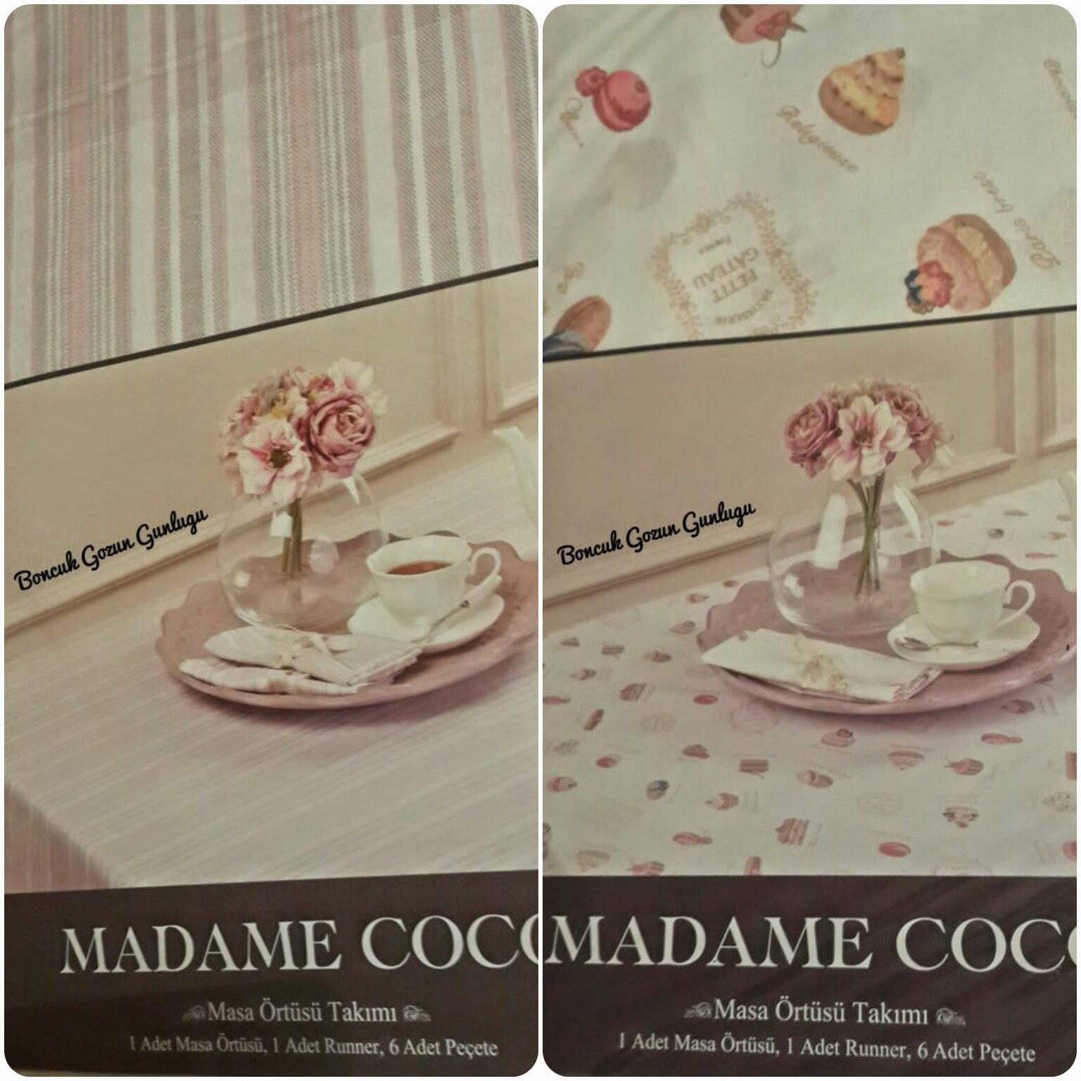 Madame Coco Masa Örtüsü runner