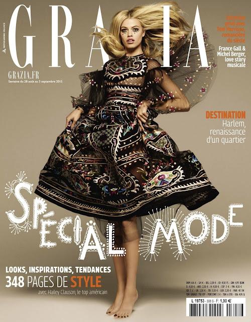 Fashion Model @ Hailey Clauson by Jason Kim for Grazia France, September 2015