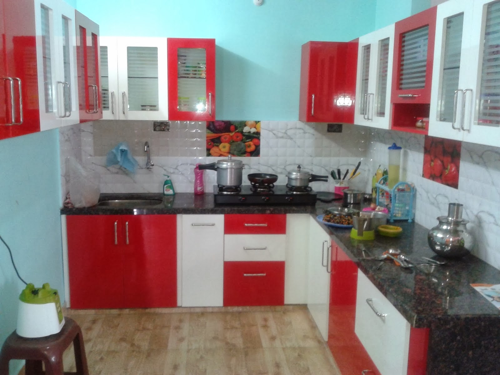 Streaks QUALITY VALUE SERVICE Home Interiors At  Streaks - Modular kitchen designs red white