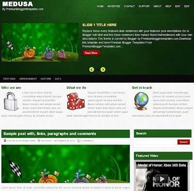 Medusa professional Blog Template