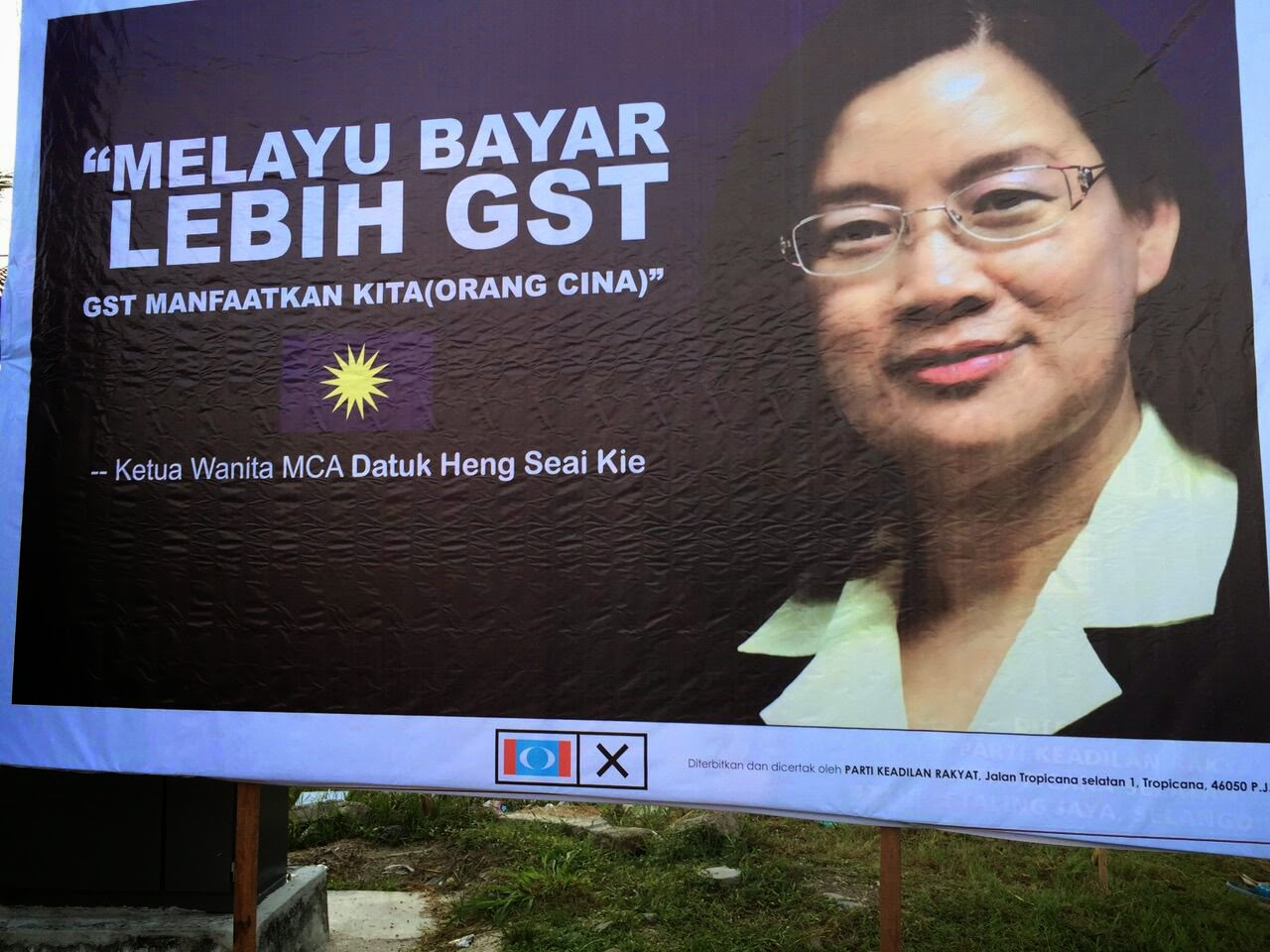Pakatan Mula Panas Punggung PRKPermatangPauh Turunkan Billboard Fitnah MCA