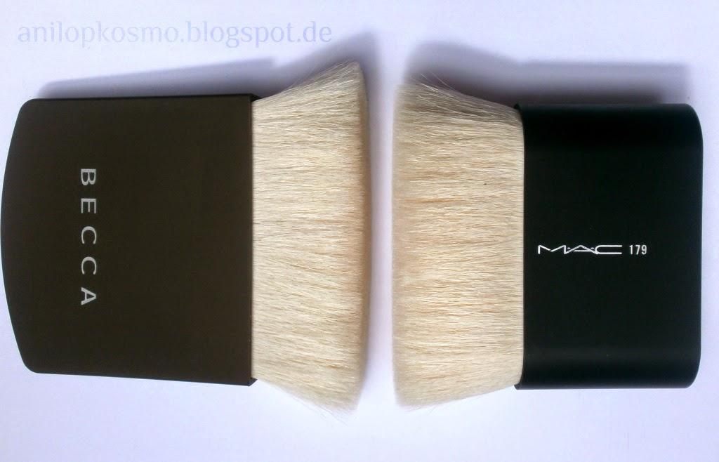 Becca The one perfecting brush, MAC № 179, кисть для бронзера, универсальная кисть Бекка