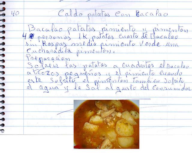Las recetas de la nata de munera caldo de patatas con bacalao - Patatas en caldo con bacalao ...