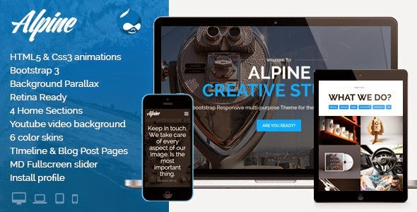 Alpine Drupal Theme