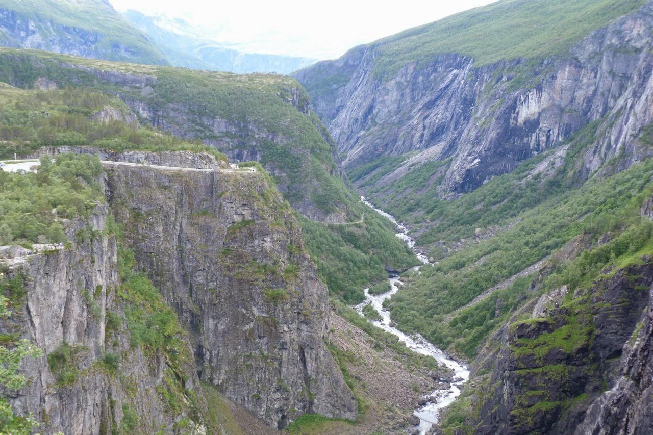Noorwegen waterval Vorigfossen