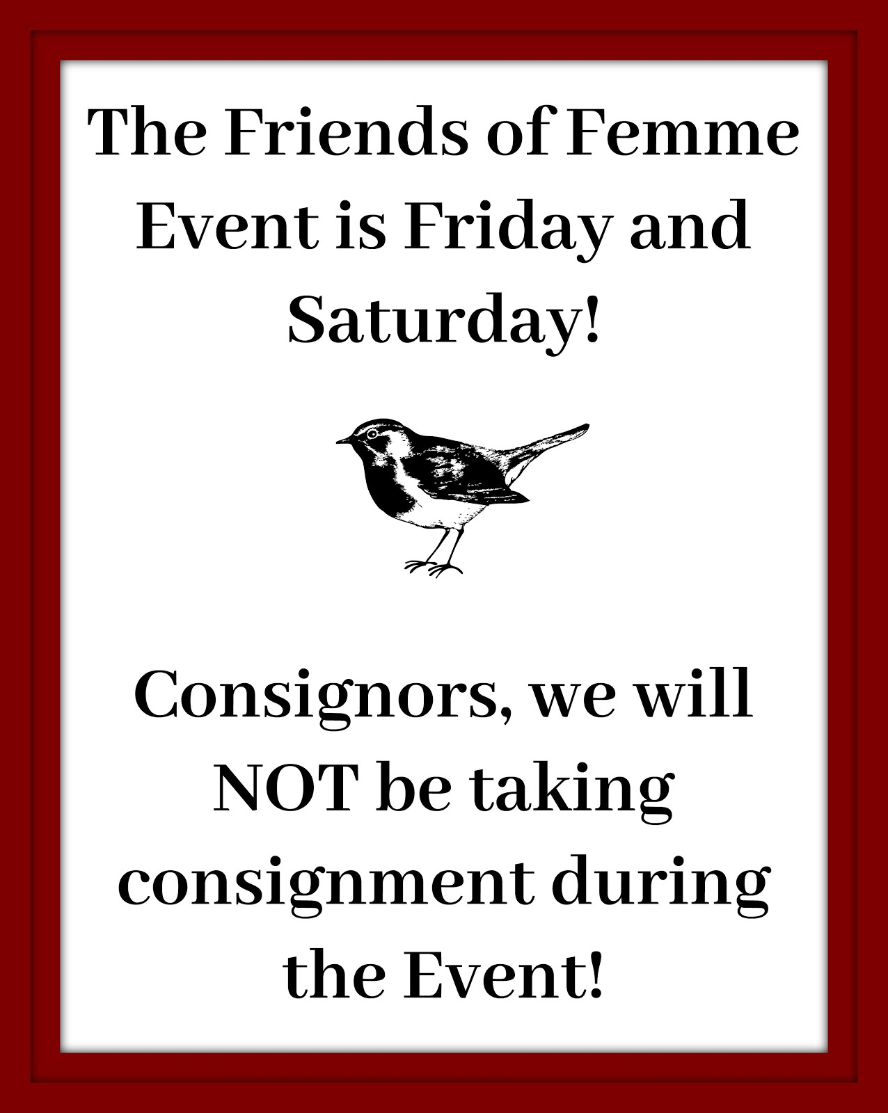 The Friends of Femme Event!