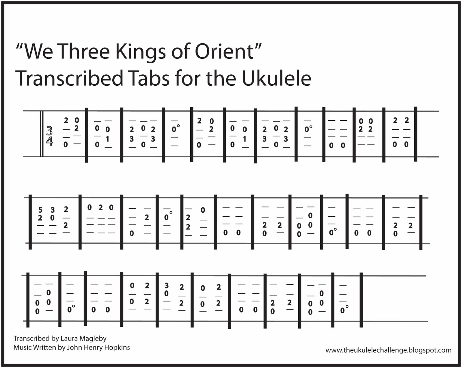 The ukulele challenge january 2016 i hope you enjoy playing we three kings of orient for the ukulele as much as i have thanks for following the ukulele challenge at hexwebz Gallery