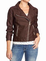 Faux Leather Jacket, Old Navy Faux Leather Jacket, leather trends, fall style