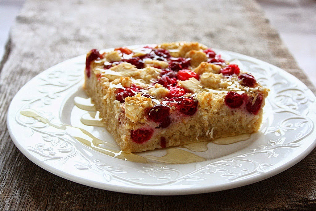CRANBERRY WHITE CHOCOLATE OAT BAKE