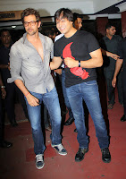 Hrithik Roshan & Vivek promote 'Krrish 3' at Chandan