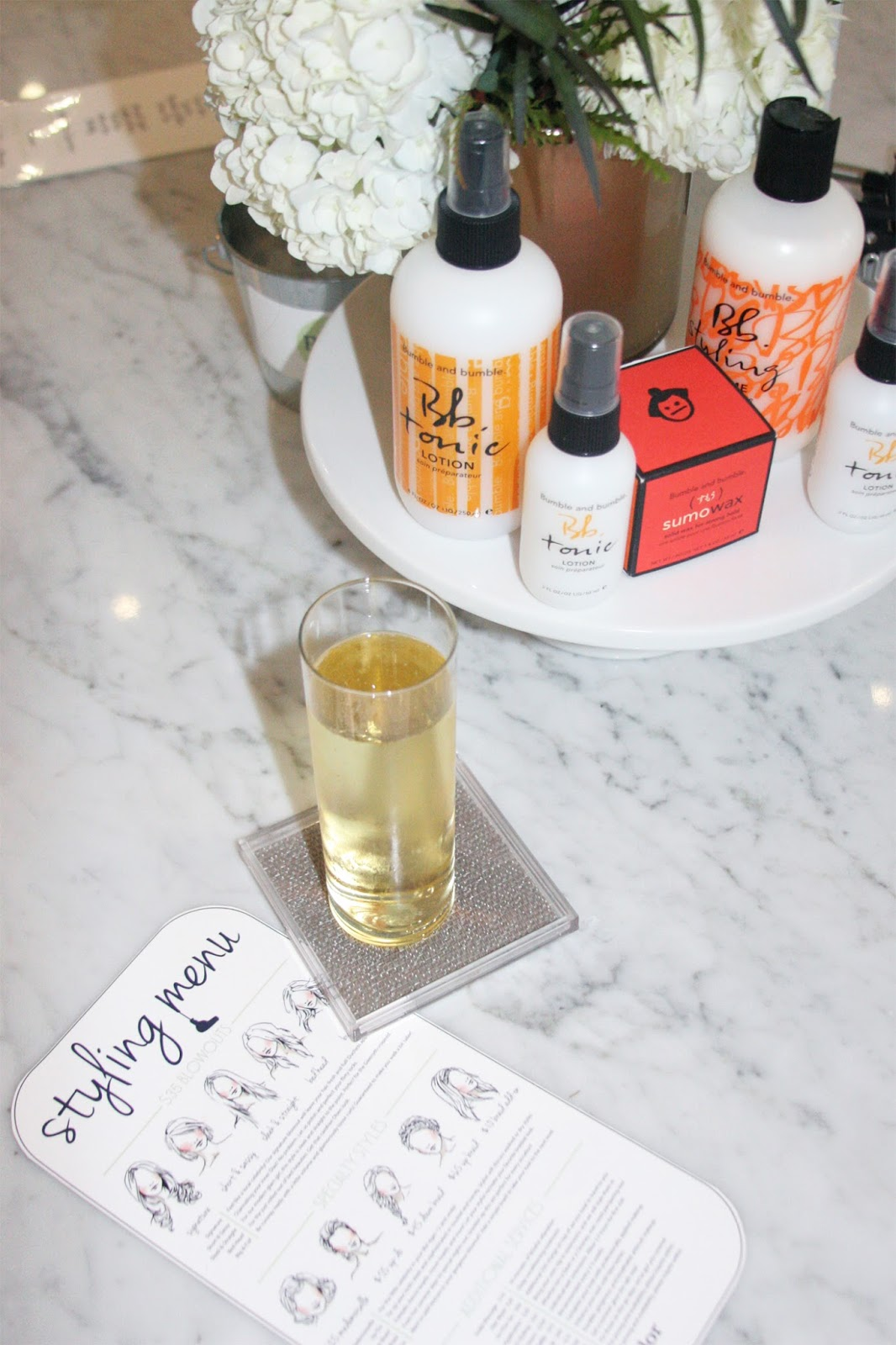 Parlor-blow-dry-bar-style-menu-and-champagne