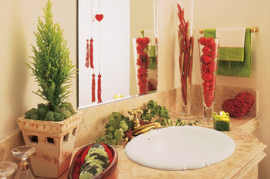 decoracao de lavabo para o natal:Tu Organizas.: Decoração de Natal para a casa toda