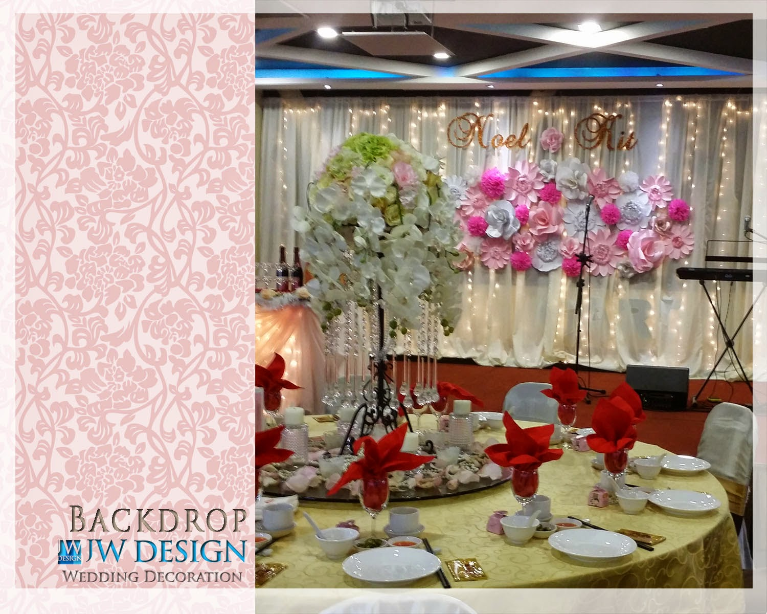 Jw design wedding decoration kit noels wedding klang v garden junglespirit Gallery