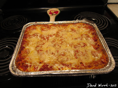 Homemade Lasagna From the Oven