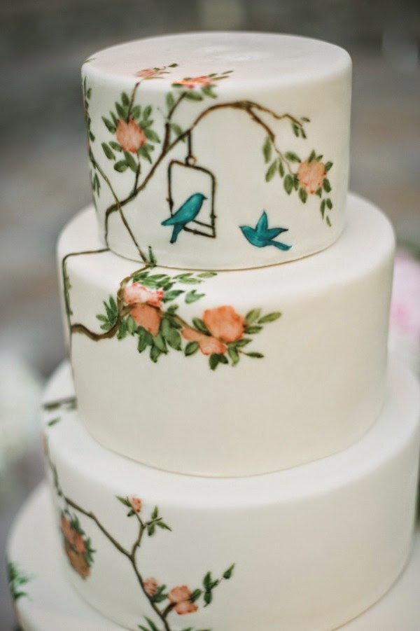 hand painted cake from The Butter End Cakery